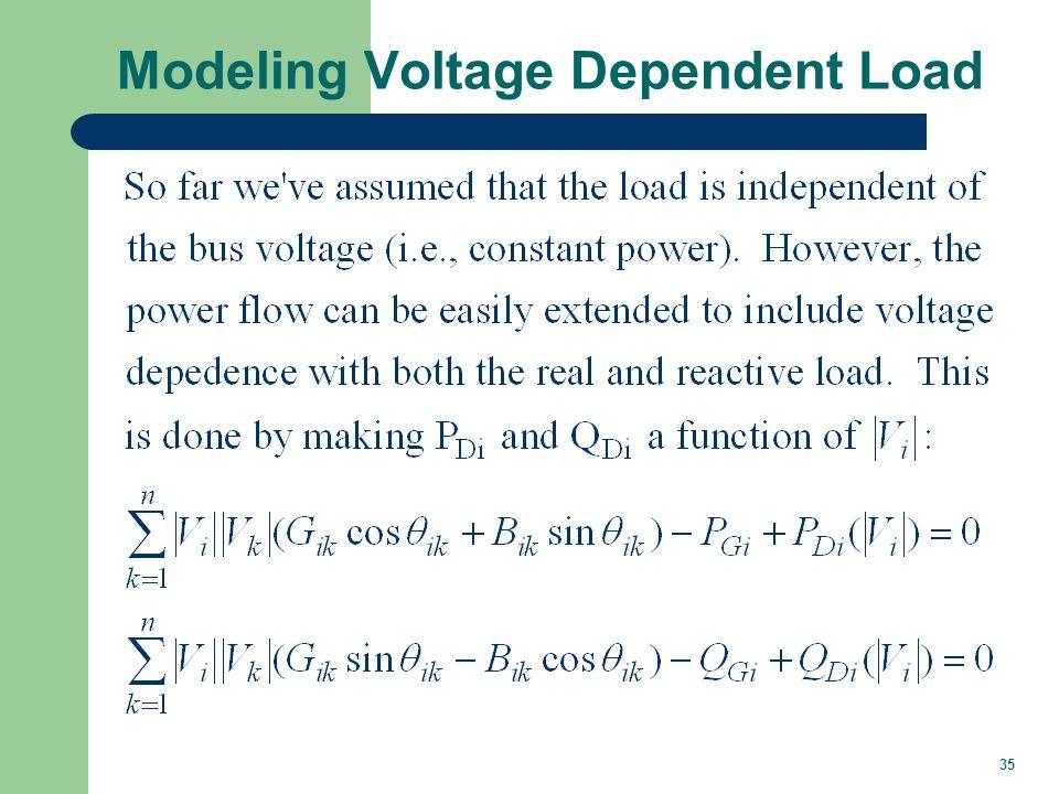 35 Modeling Voltage Dependent Load