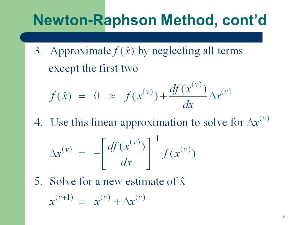 5 Newton-Raphson Method, contd
