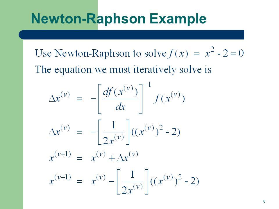 6 Newton-Raphson Example