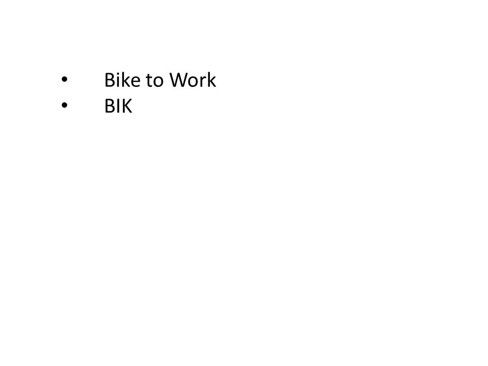 Bike to Work BIK