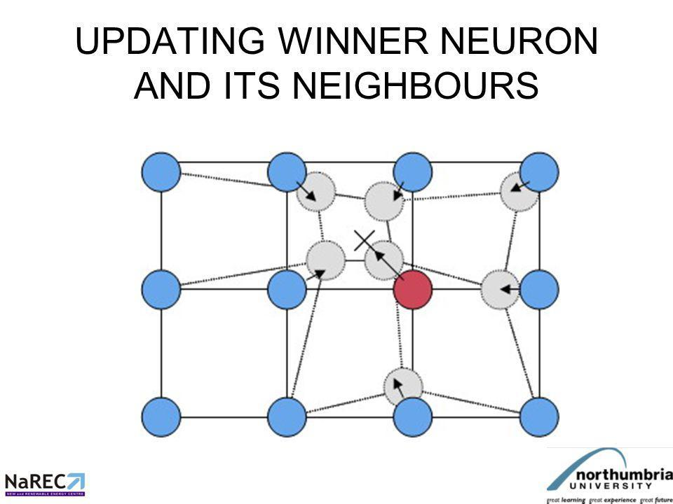 UPDATING WINNER NEURON AND ITS NEIGHBOURS