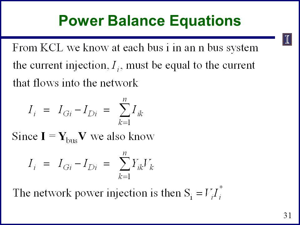 Power Balance Equations 31