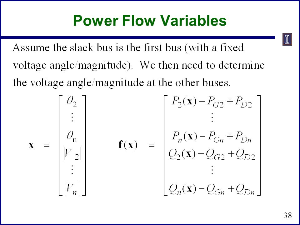 Power Flow Variables 38