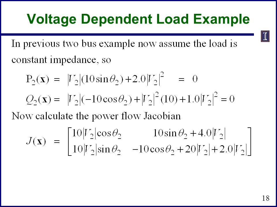 Voltage Dependent Load Example 18