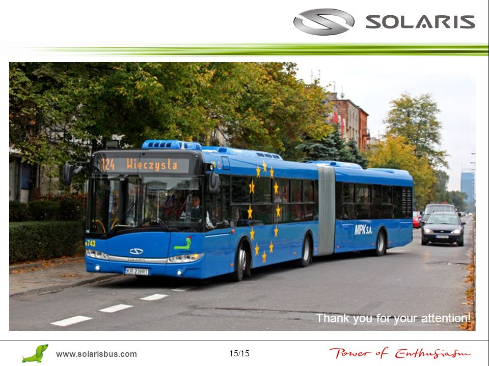www.solarisbus.com Thank you for your attention! 15/15