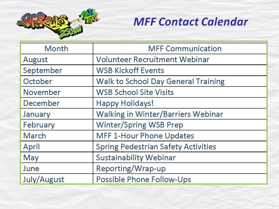 MFF Contact Calendar