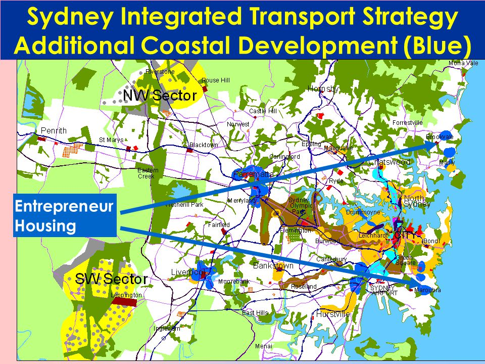 Sydney Integrated Transport Strategy Direct Express to City Lines and Stations with express services to the City every 10 minutes