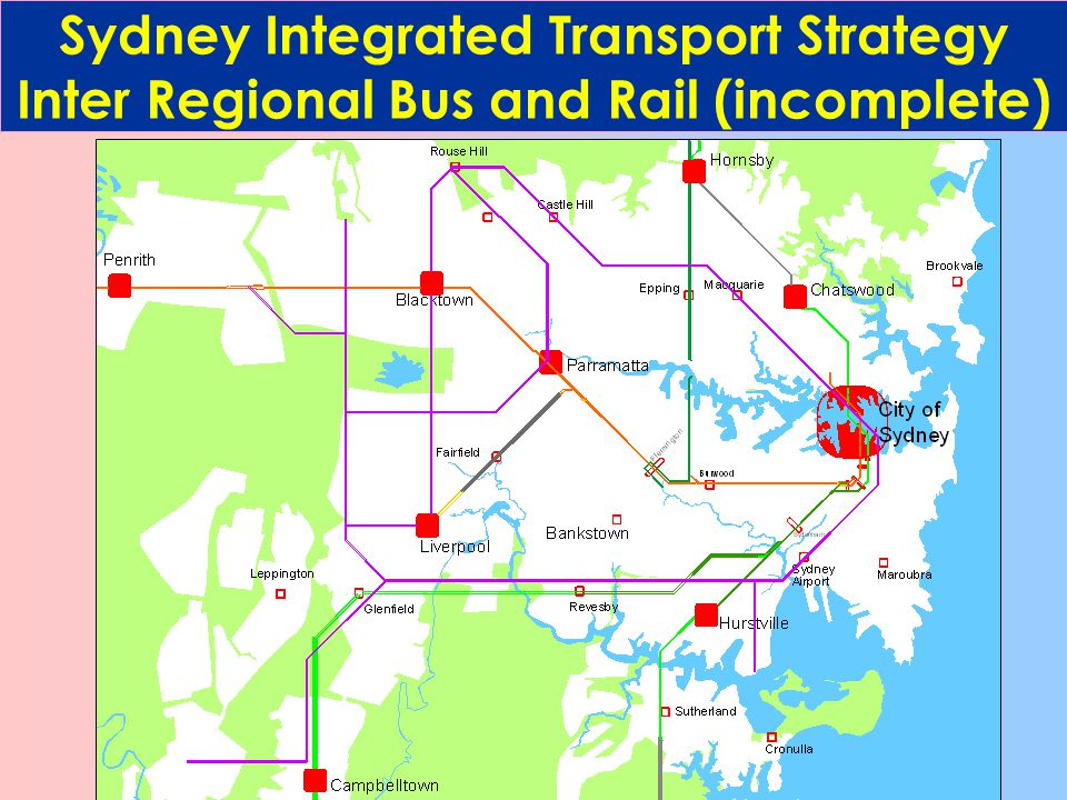 Sydney Integrated Transport Strategy Congestion Free Roads 5 km Not in 25 Years
