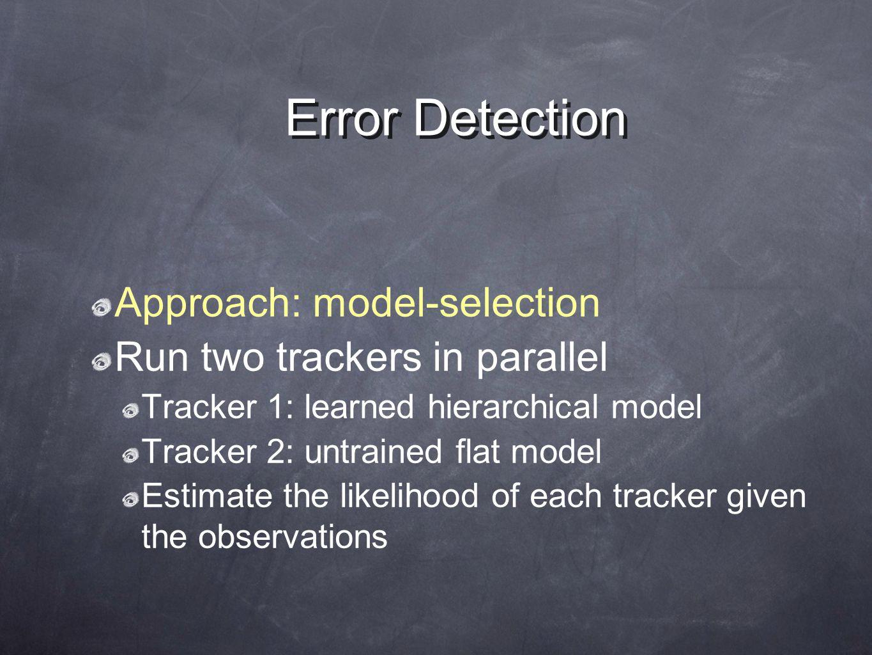 Probabilistic Model: Dynamic Bayesian Network x k-1 z k-1 zkzk xkxk m k-1 mkmk Transportation mode x= GPS reading t k-1 tktk g k-1 gkgk Goal Trip segm