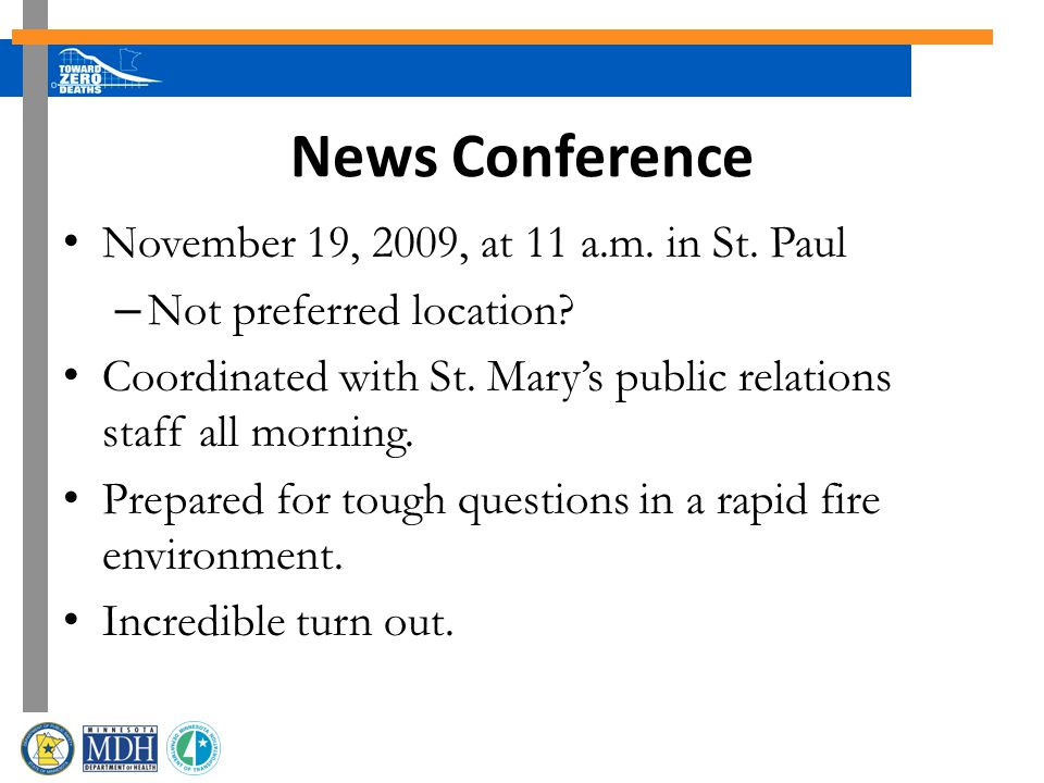 News Conference November 19, 2009, at 11 a.m. in St.