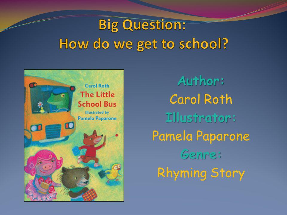 Author: Carol RothIllustrator: Pamela PaparoneGenre: Rhyming Story