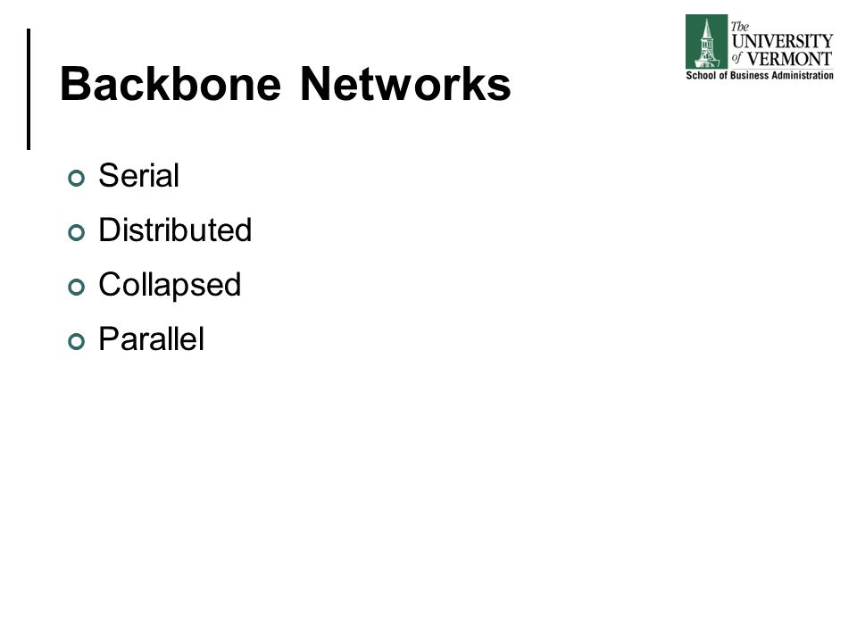 Backbone Networks Serial Distributed Collapsed Parallel