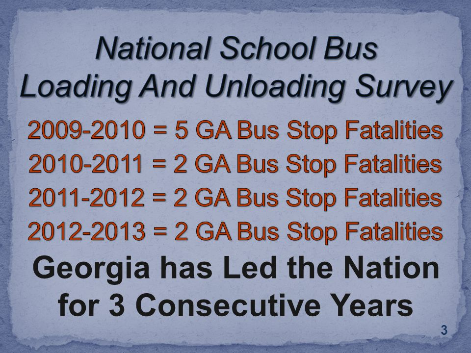 3 Georgia has Led the Nation for 3 Consecutive Years