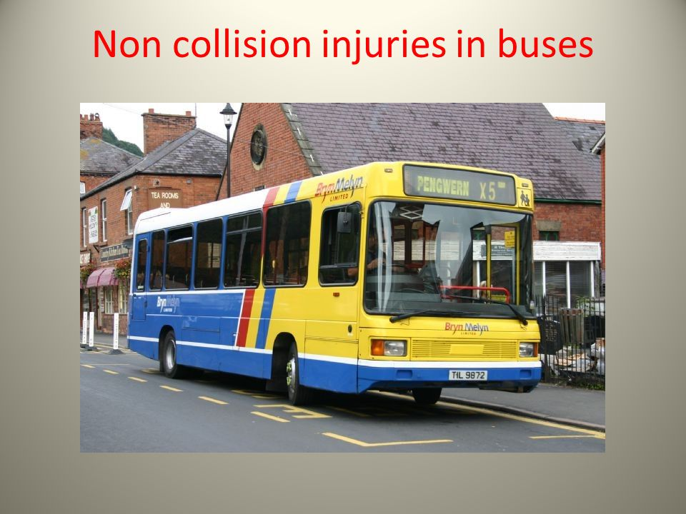 Non collision injuries in buses