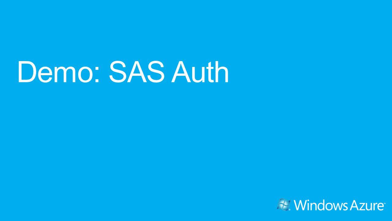 Demo: SAS Auth