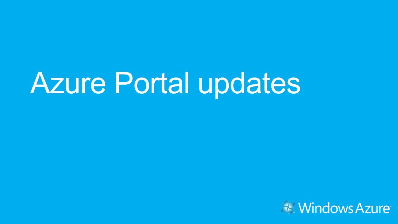 Azure Portal updates