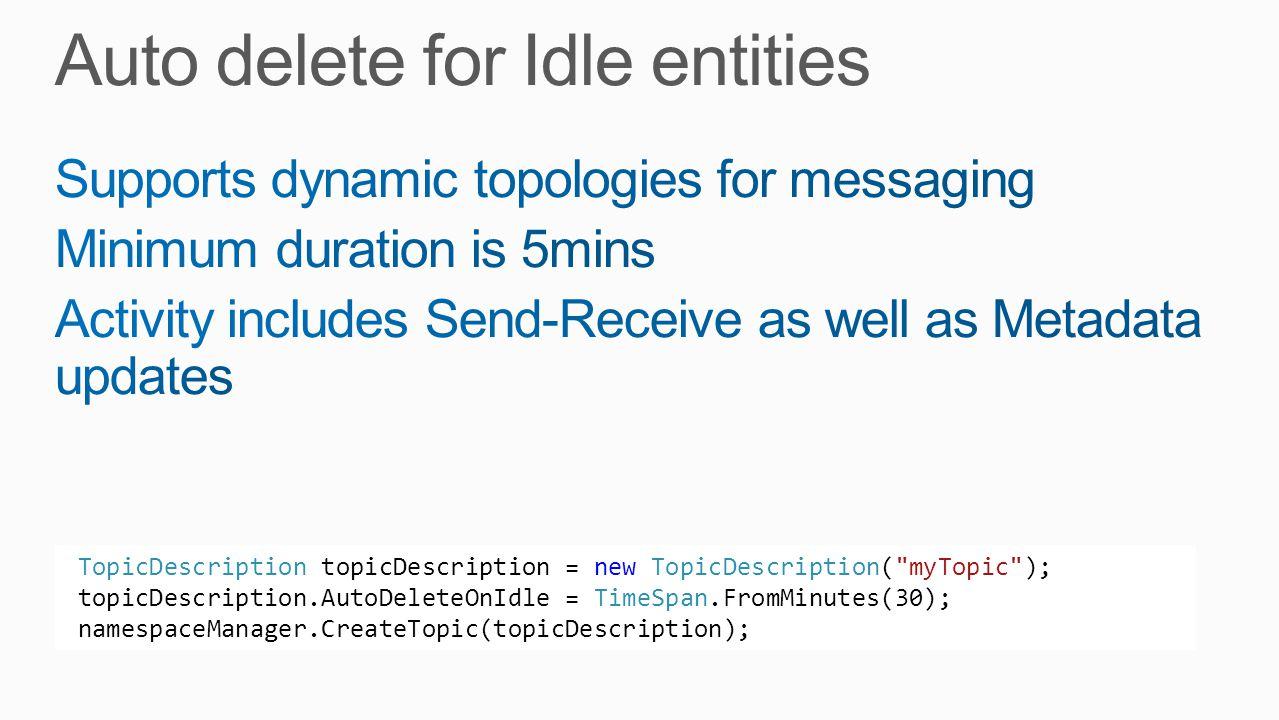 TopicDescription topicDescription = new TopicDescription(