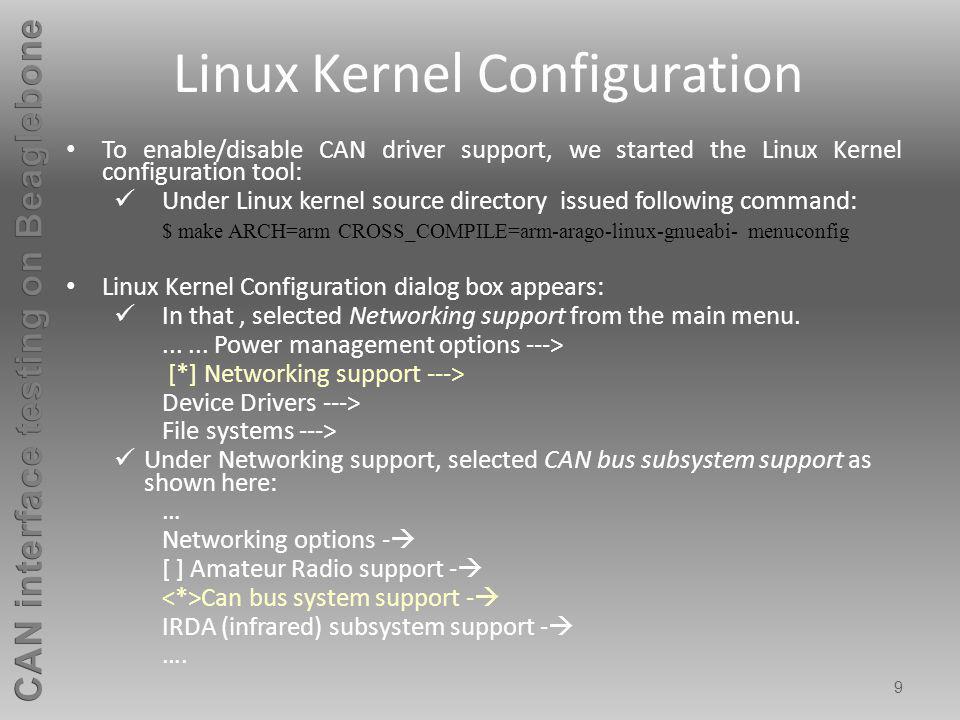 10 Linux Kernel Configuration Contd..