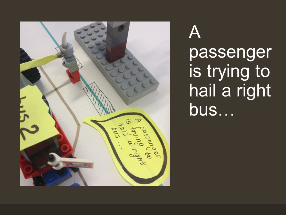 A passenger is trying to hail a right bus…