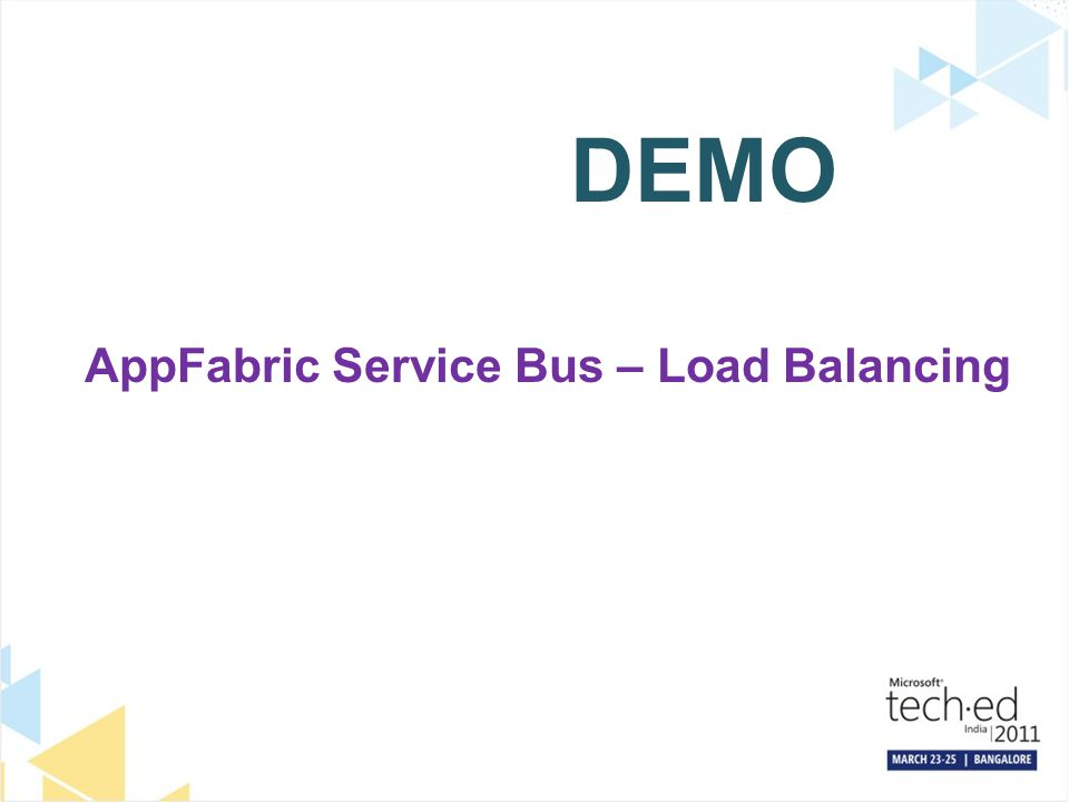 DEMO AppFabric Service Bus – Load Balancing