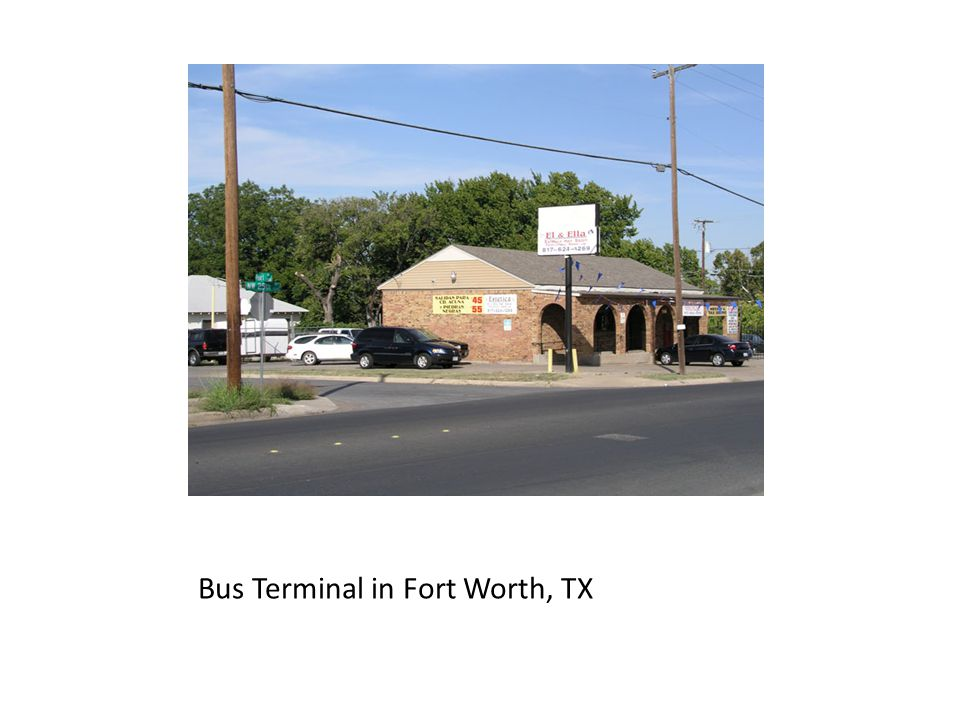 Bus Terminal in Fort Worth, TX