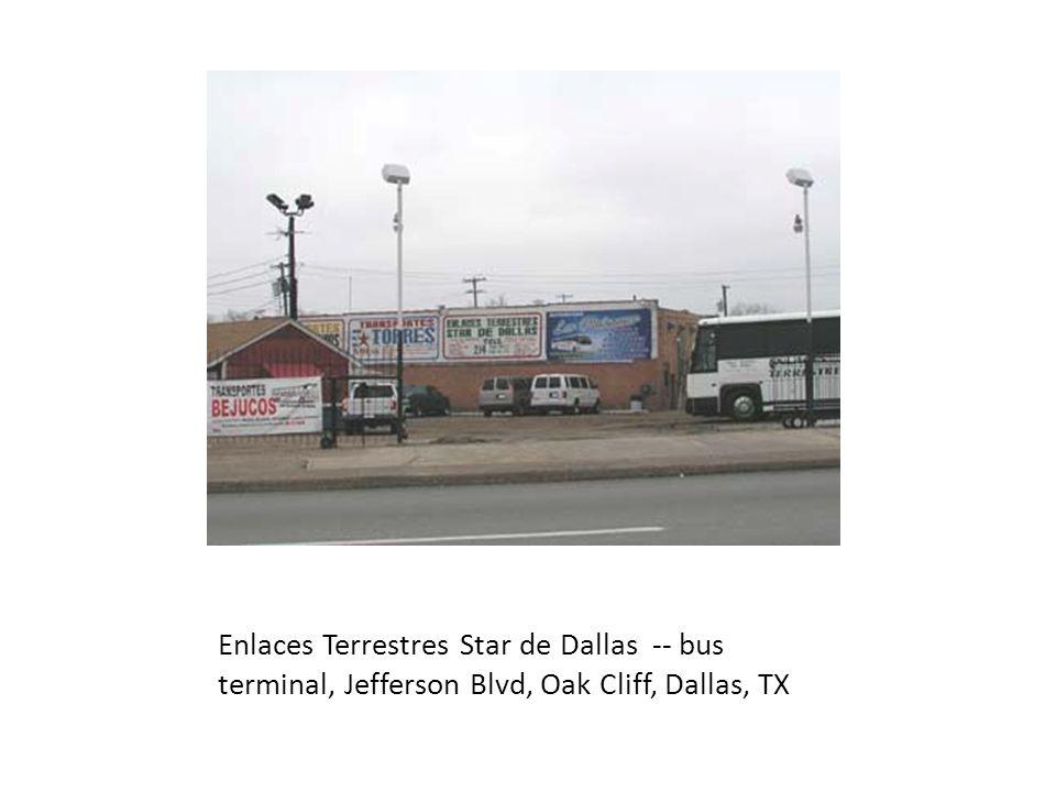 Turimex International Bus Terminal in Oak Cliff, Dallas, TX