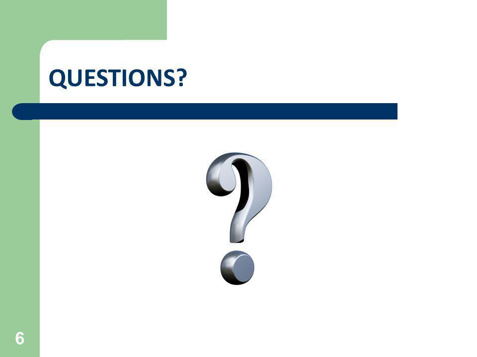 QUESTIONS 27 FECA Conference June XX, 2013