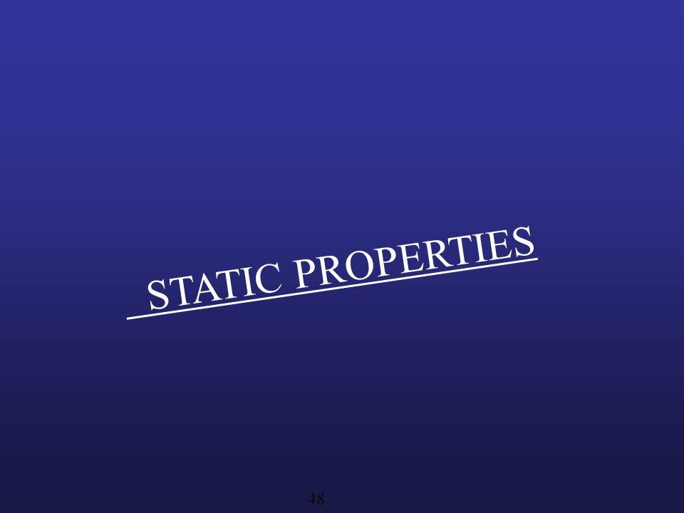 STATIC PROPERTIES 48