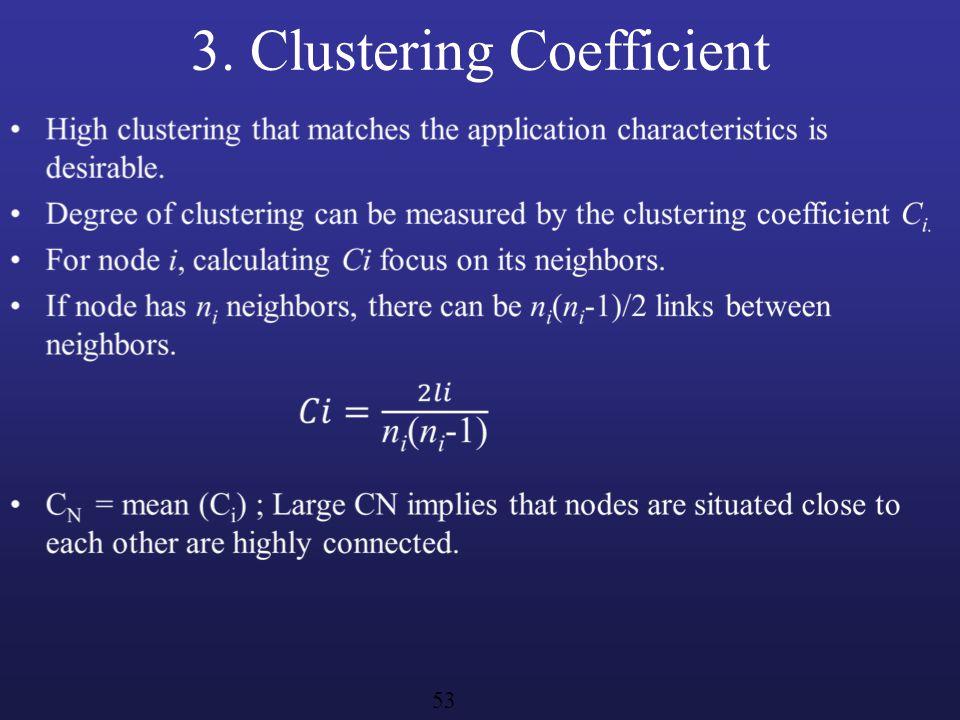 3. Clustering Coefficient 53