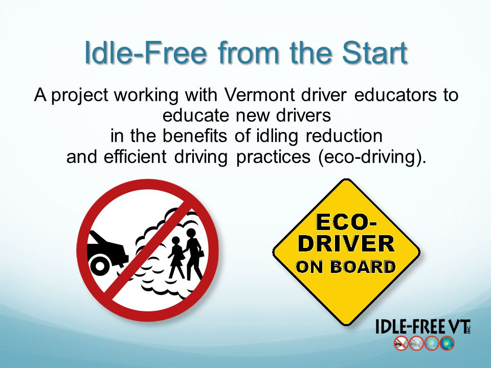 A project working with Vermont driver educators to educate new drivers in the benefits of idling reduction and efficient driving practices (eco-drivin