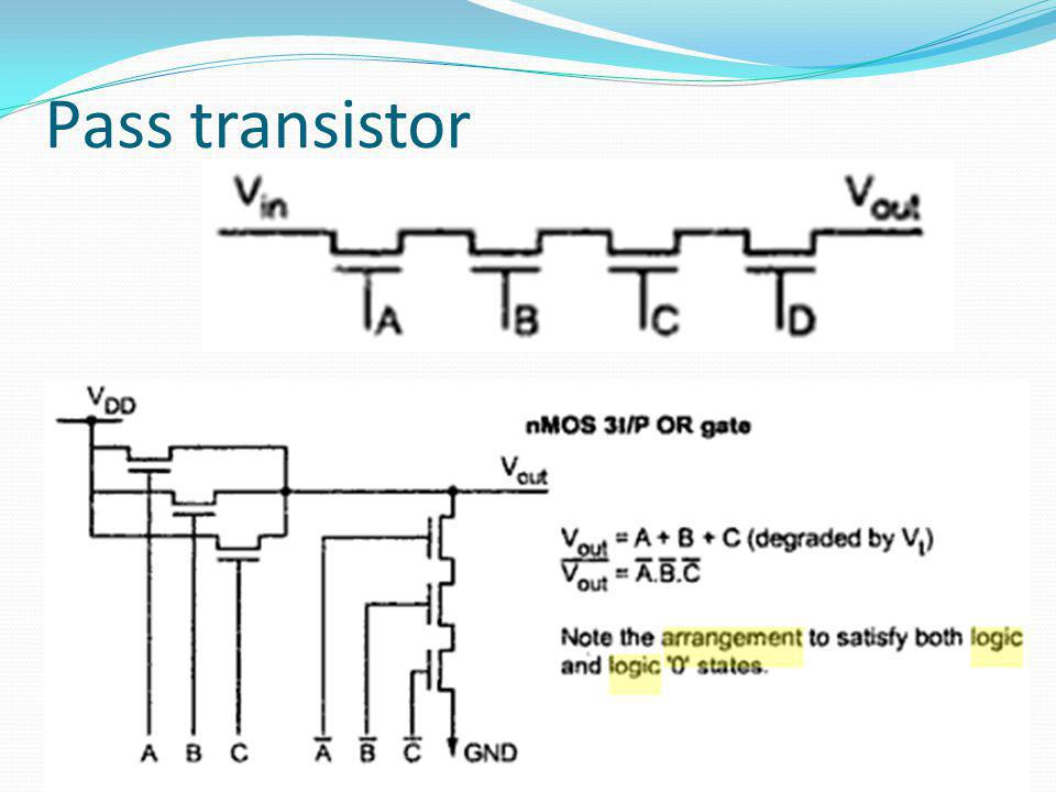 Clocked CMOS logic Logic is implemented in both n- and p-transistors in the form of a p-block and n-block structure The logic is evaluated only during on period of the clock
