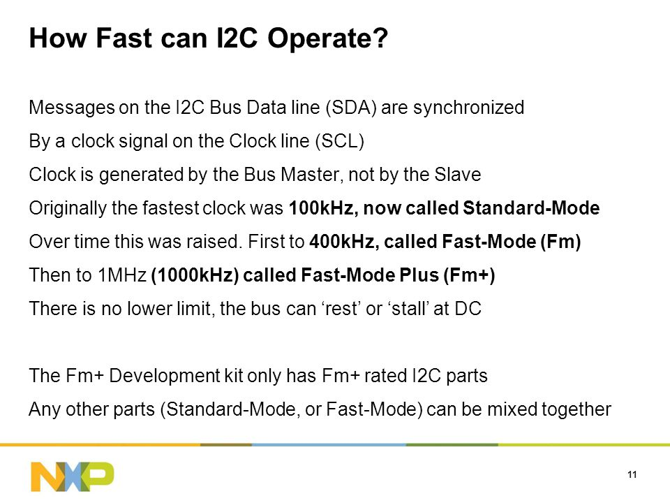 How Fast can I2C Operate.