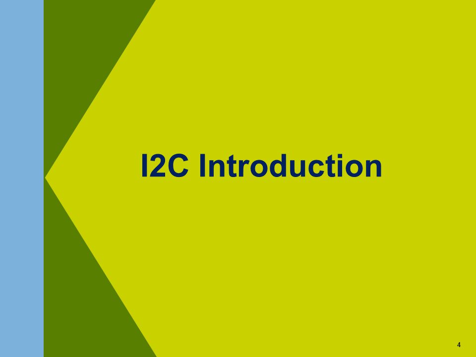 4 I2C Introduction 4