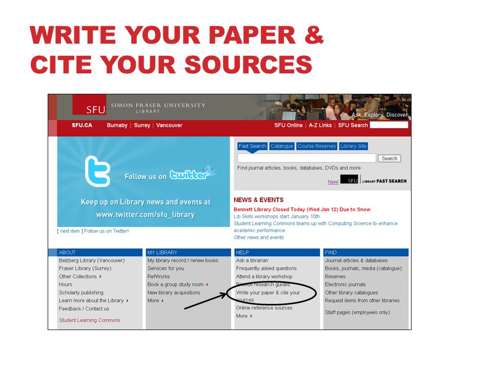 WRITE YOUR PAPER & CITE YOUR SOURCES