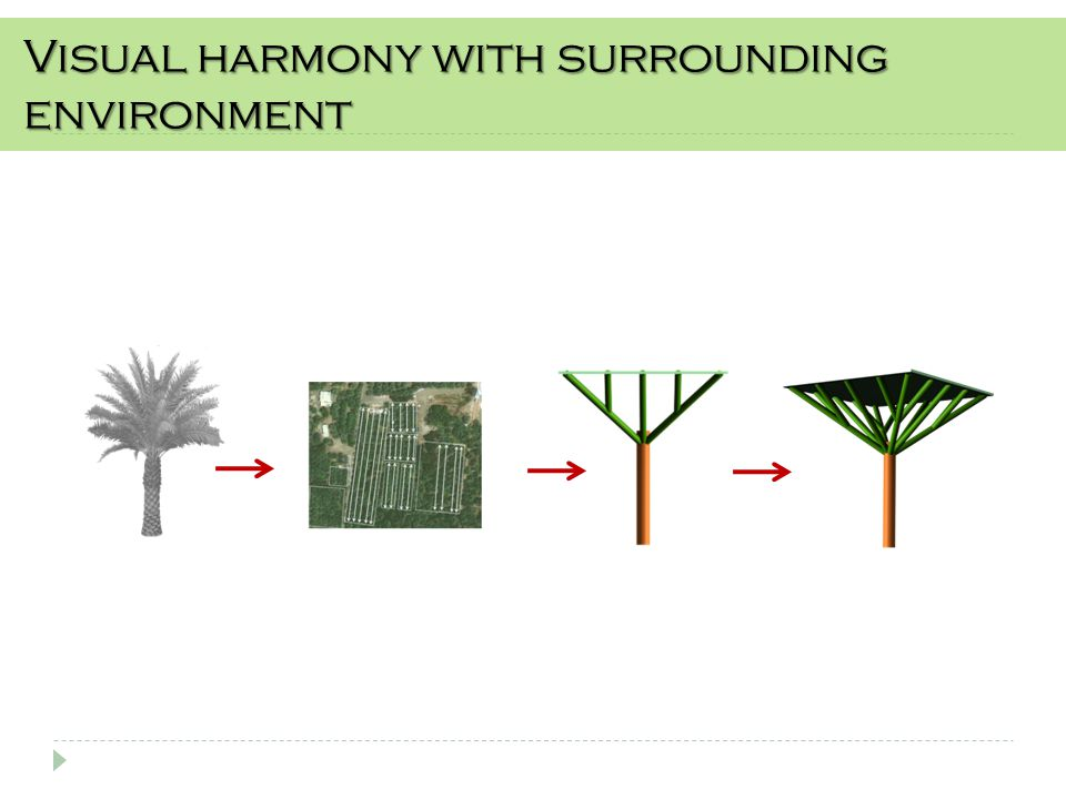 Visual harmony with surrounding environment