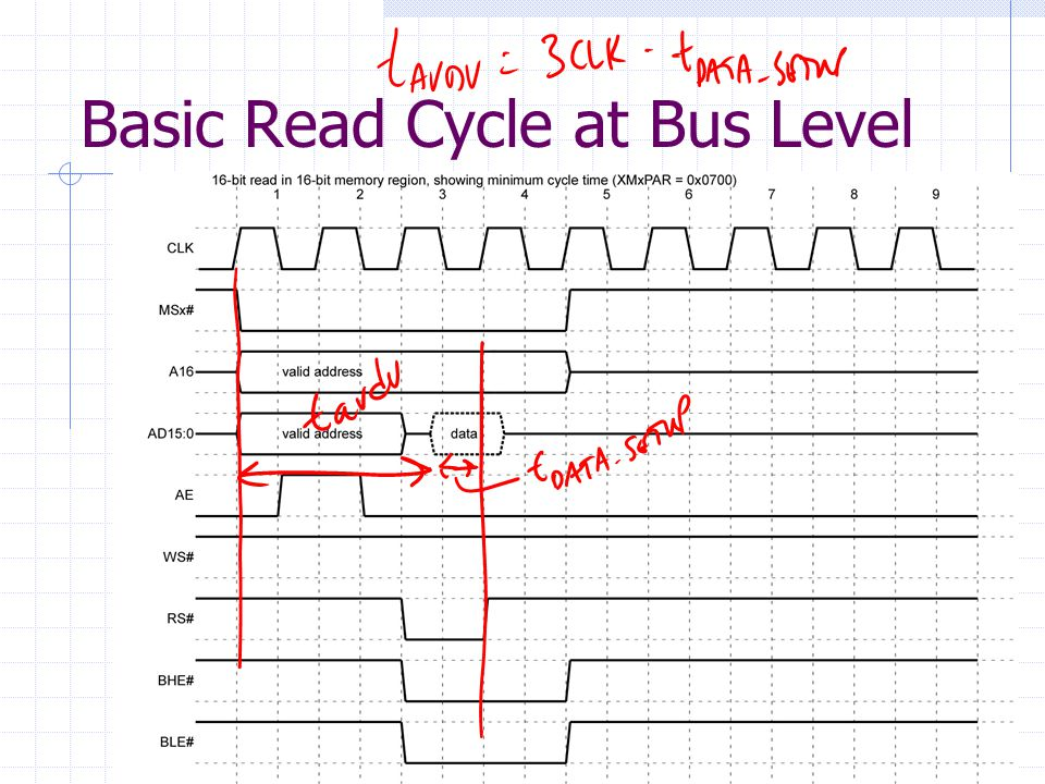 Basic Read Cycle at Bus Level