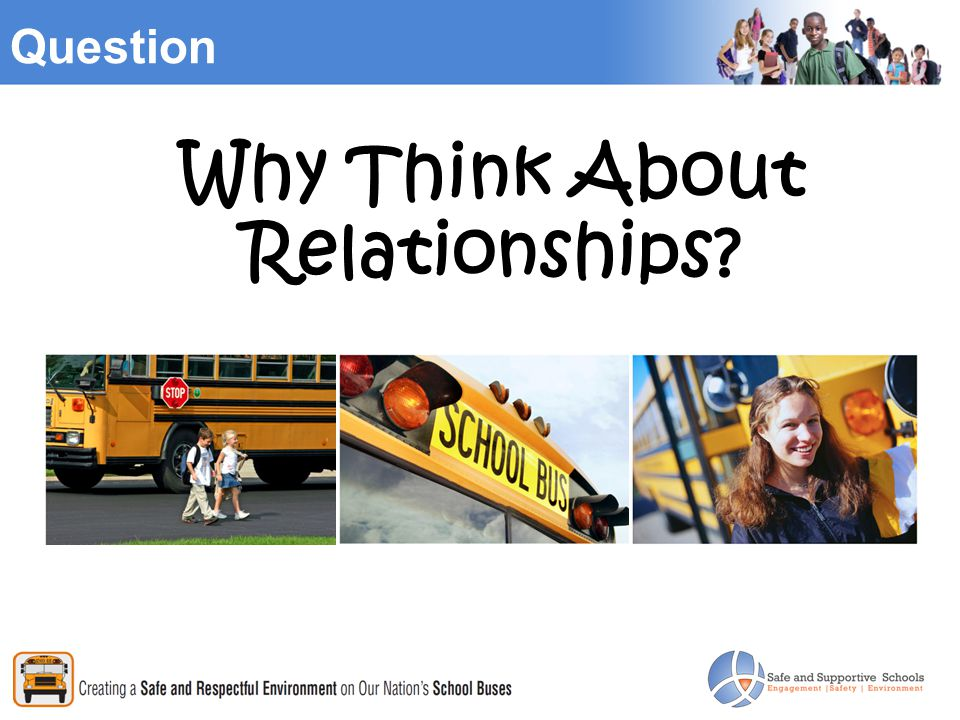 Question Why Think About Relationships?