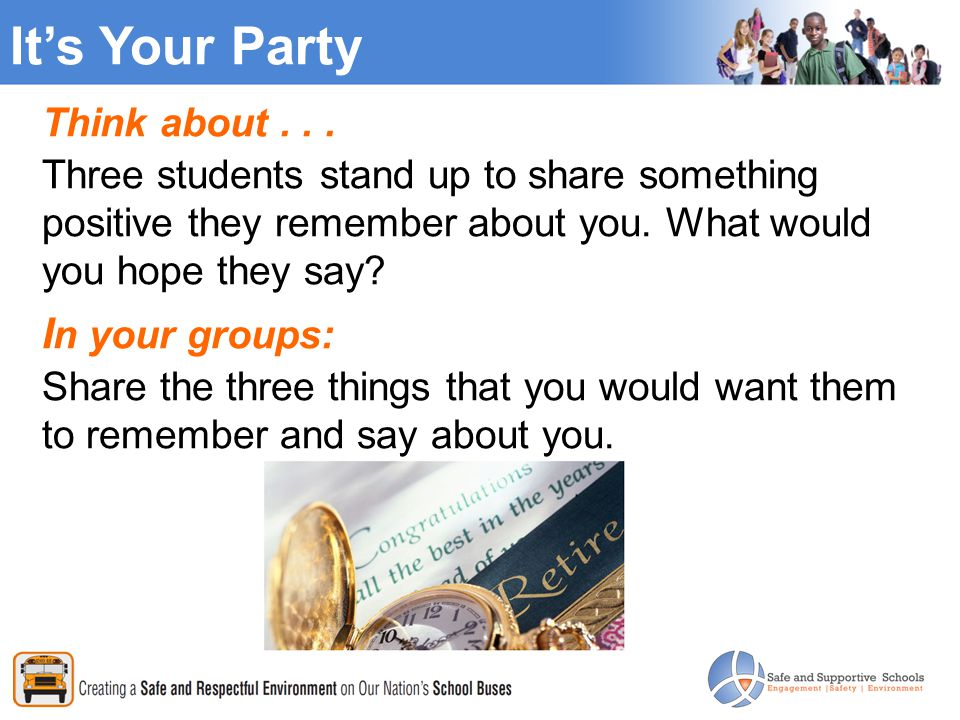 Its Your Party Think about...