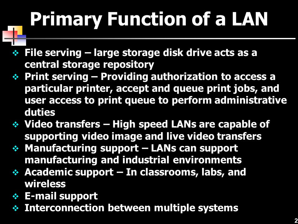 23 IEEE 802 Frame Formats IEEE 802 suite of protocols defines frame formats for CSMA/CD (IEEE 802.3), CSMA/CA (IEEE 802.11), and token ring (IEEE 802.5) Each frame format describes how data package is formed If a CSMA/CD network connects to a token ring network, frames have to be converted from one to another