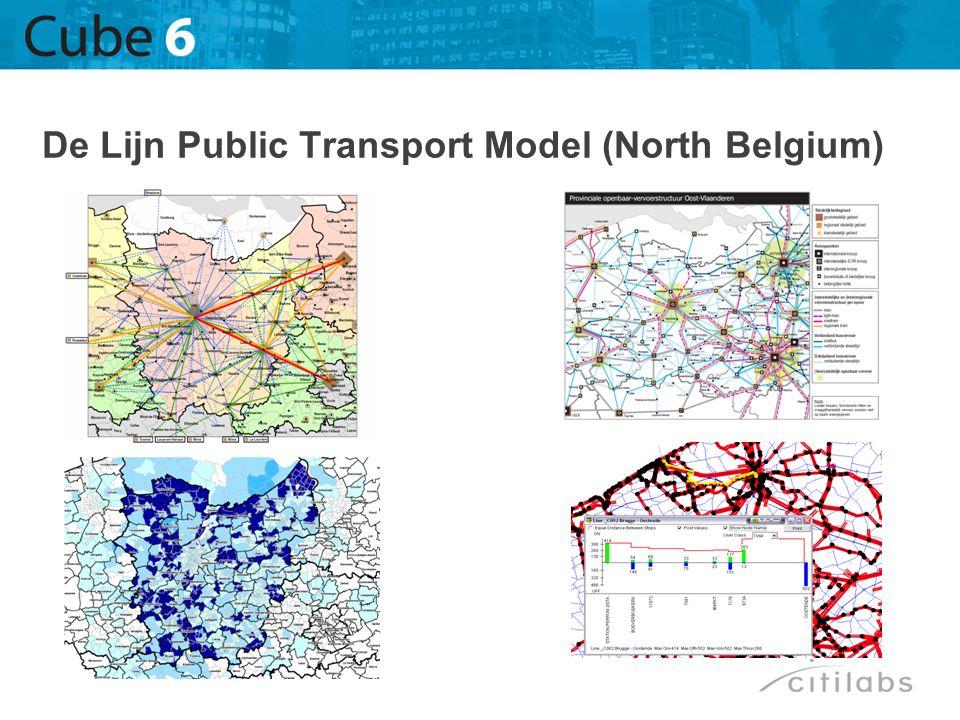 De Lijn Public Transport Model (North Belgium)