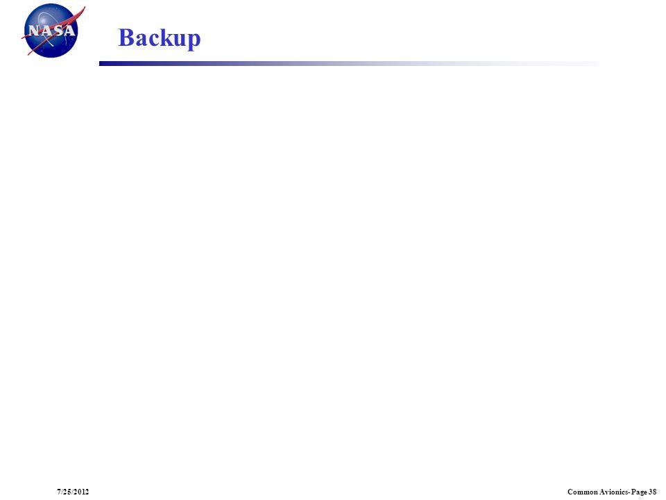 Common Avionics- Page 387/25/2012 Backup