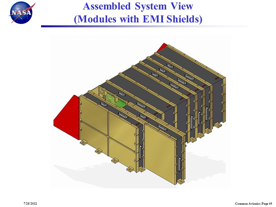 Common Avionics- Page 497/25/2012 Assembled System View (Modules with EMI Shields)