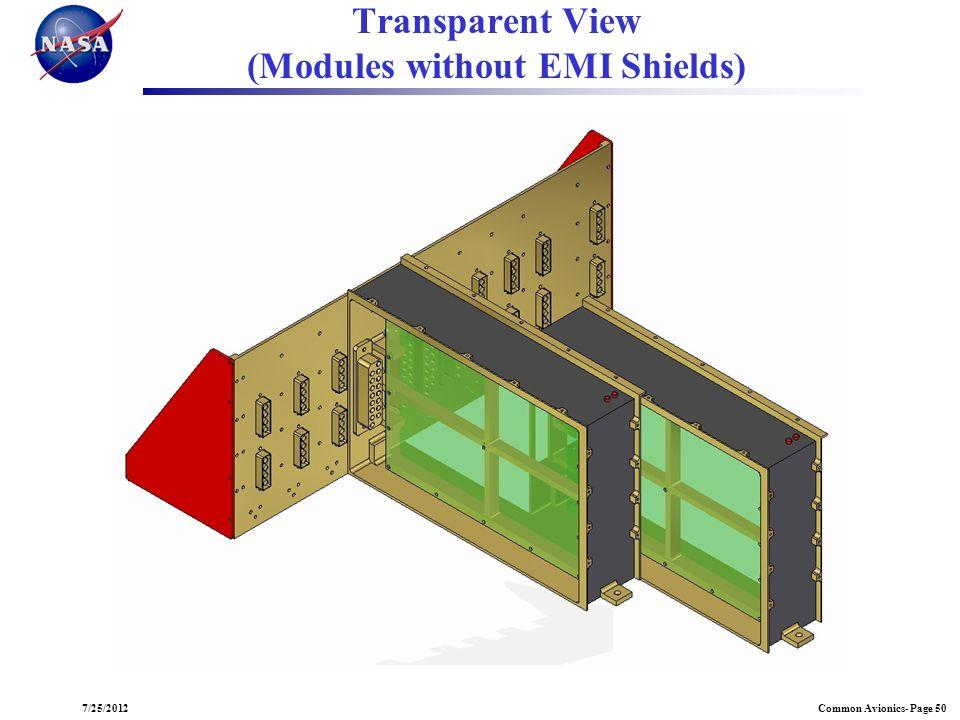 Common Avionics- Page 507/25/2012 Transparent View (Modules without EMI Shields)