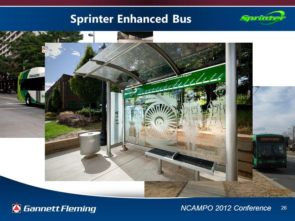 NCAMPO 2012 Conference 26 Sprinter Enhanced Bus