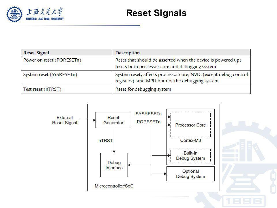 Reset Signals