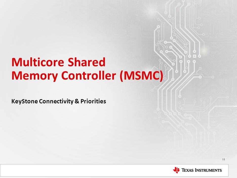 Multicore Shared Memory Controller (MSMC) KeyStone Connectivity & Priorities 11
