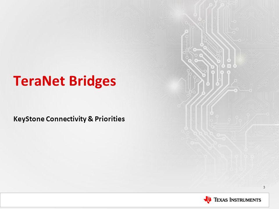 TeraNet Bridges KeyStone Connectivity & Priorities 3