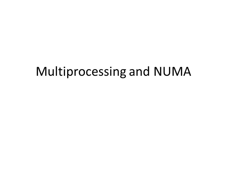 Dealing with NUMA (users) Users can query the system for the NUMA layout [jarusl@cambria ~]$ numactl --hardware available: 2 nodes (0-1) node 0 cpus: 0 2 3 4 5 6 node 0 size: 8182 MB node 0 free: 7215 MB node 1 cpus: 1 7 8 9 10 11 node 1 size: 8192 MB node 1 free: 7475 MB node distances: node 0 1 0: 10 16 1: 16 10