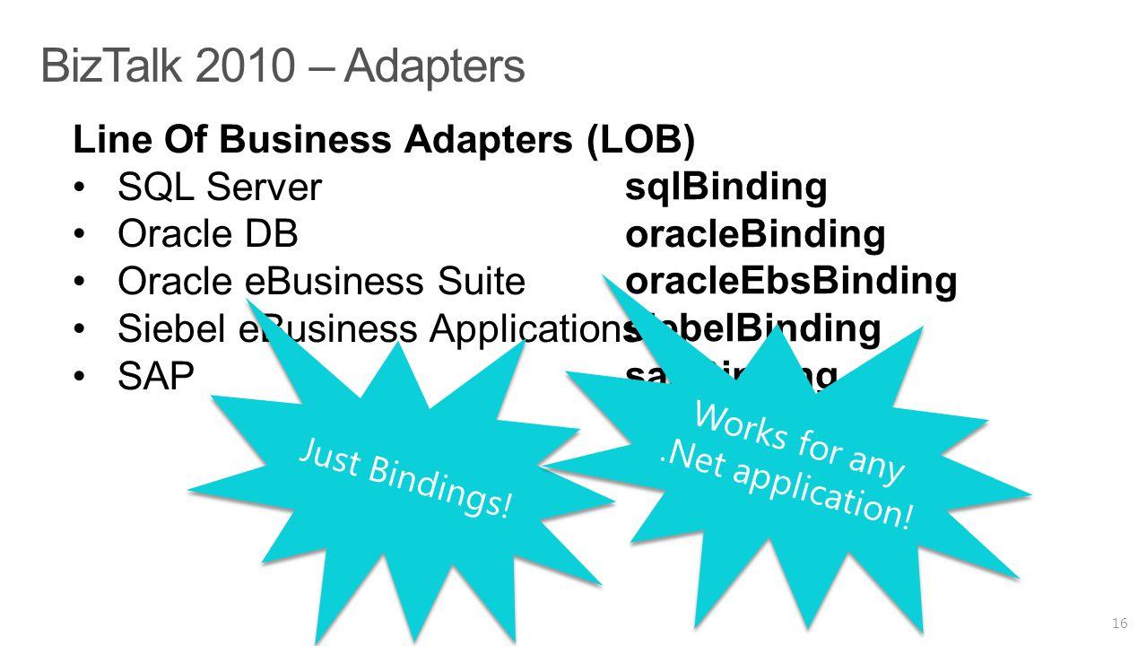 BizTalk 2010 – Adapters 16