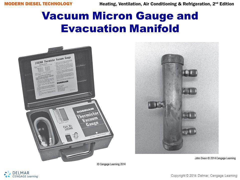 Copyright © 2014 Delmar, Cengage Learning Vacuum Micron Gauge and Evacuation Manifold